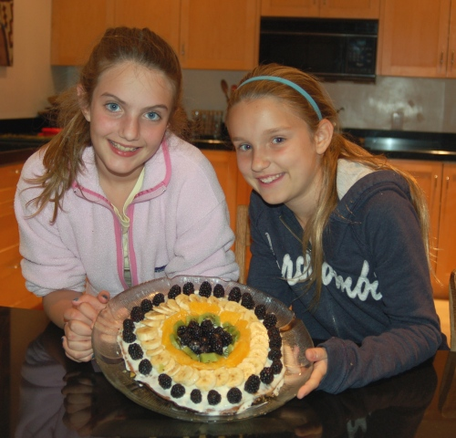 Voila! The (justifiably) proud chefs and their masterpiece.