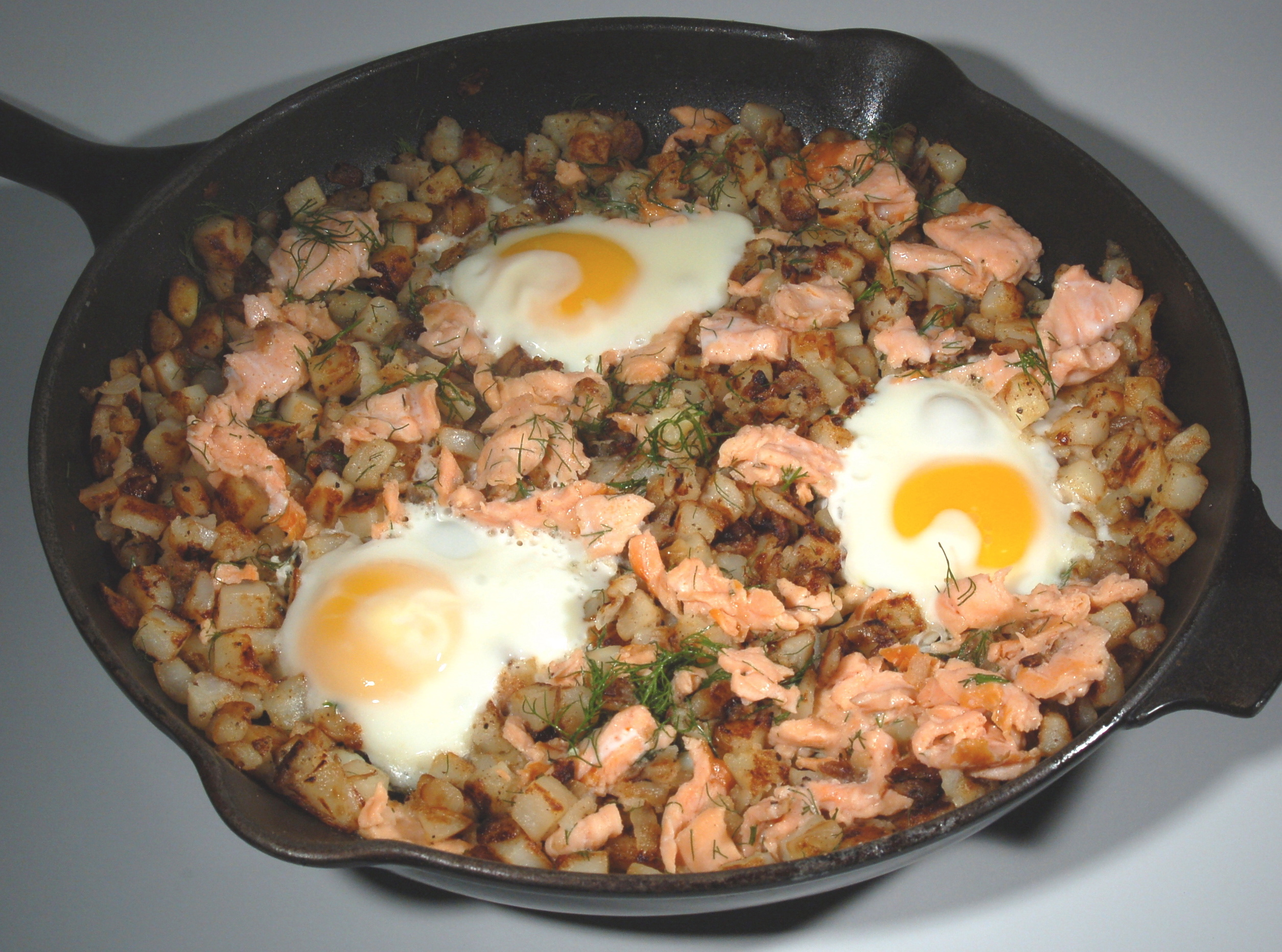 Smoked Salmon Hash With Lemon-Parsley Vinaigrette Recipes — Dishmaps