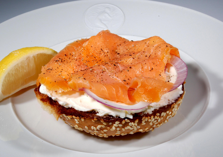 Smoked Salmon And Cream Cheese Bagels Recipe — Dishmaps